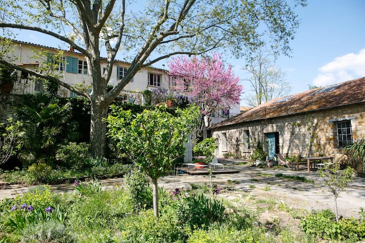 Gite in lodeve with a huge garden