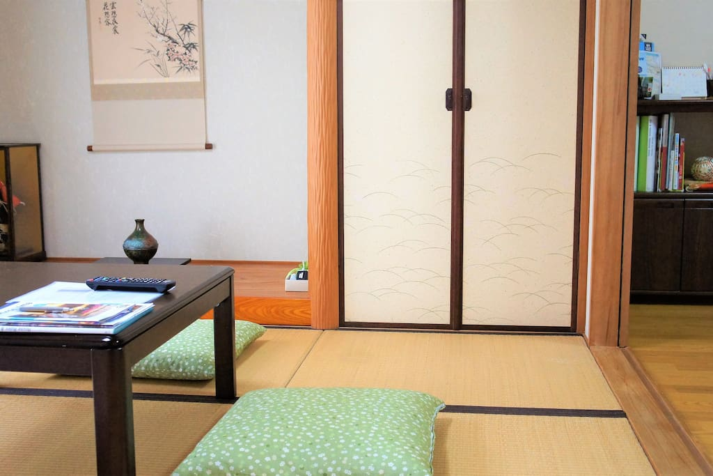 Japanese-style room with a floor