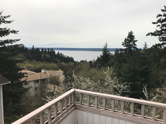 Penthouse Room- View  Puget Sound 10min to Airport - Burien - Hus