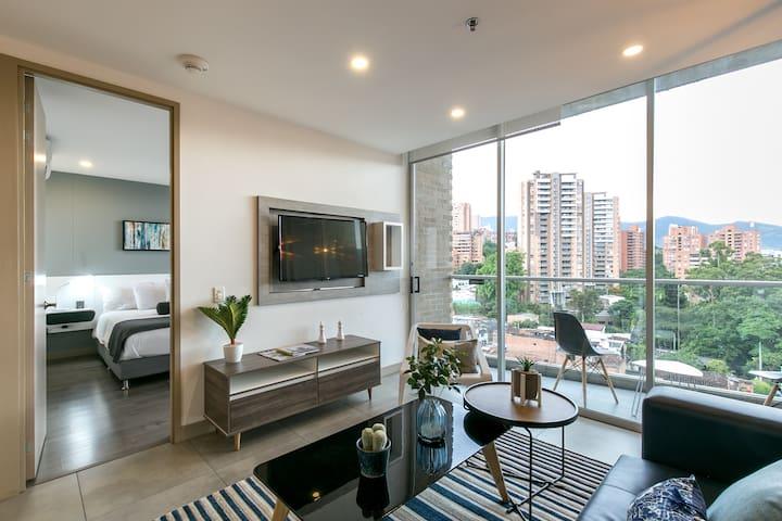 Chic, modern, interior design.