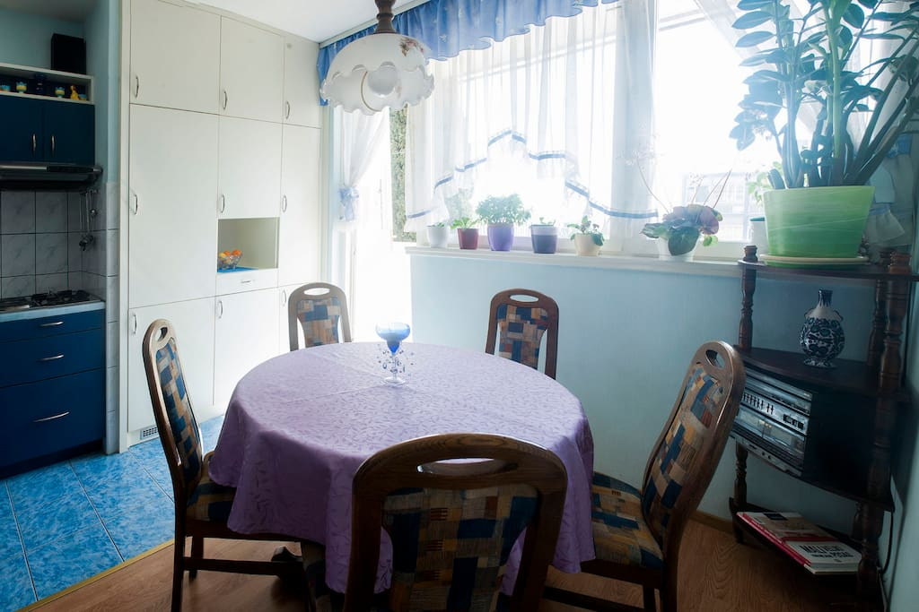 Dining room within kitchen
