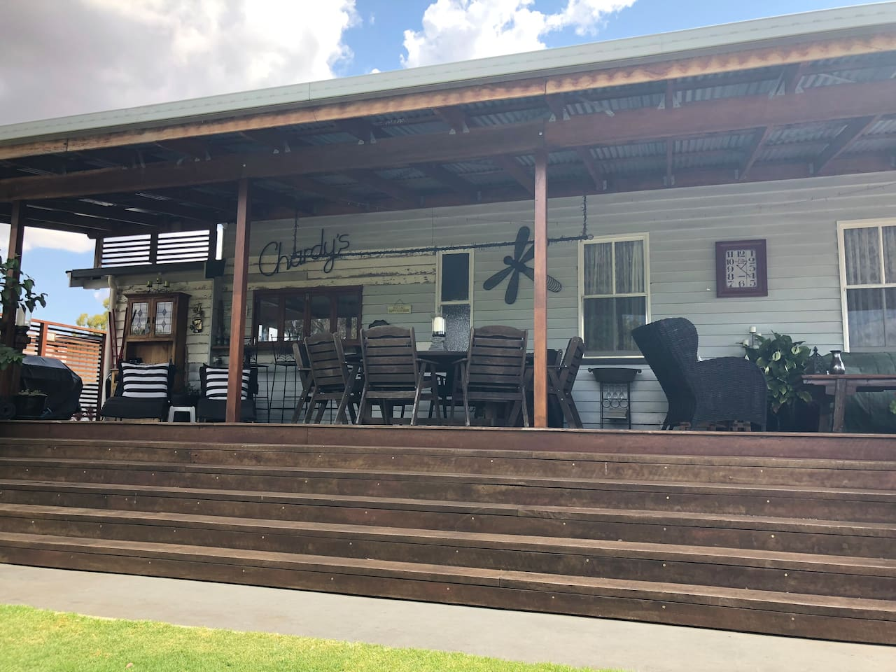 Very large relaxing verandah with plenty of room to entertain.