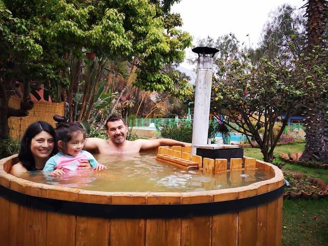 Cabaña 2 con Piscina y Tinaja -Villa Hermosa-Olmué