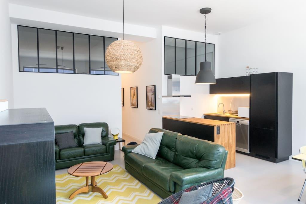 la factory loft 75m2 parking annecy centre lofts louer annecy auvergne rh ne alpes. Black Bedroom Furniture Sets. Home Design Ideas