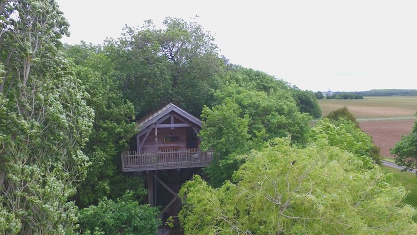 cabane perchée de Leuze - Saint-Sornin