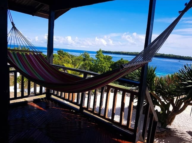Veranda with incredible view and  hammock, nice for chilling and lounging