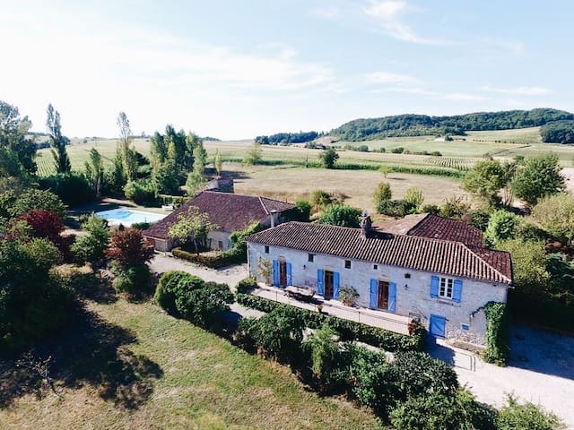 A beautiful farmhouse in the French countryside.