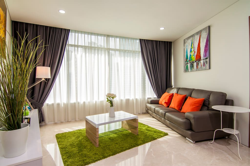 Living room with relaxing decors