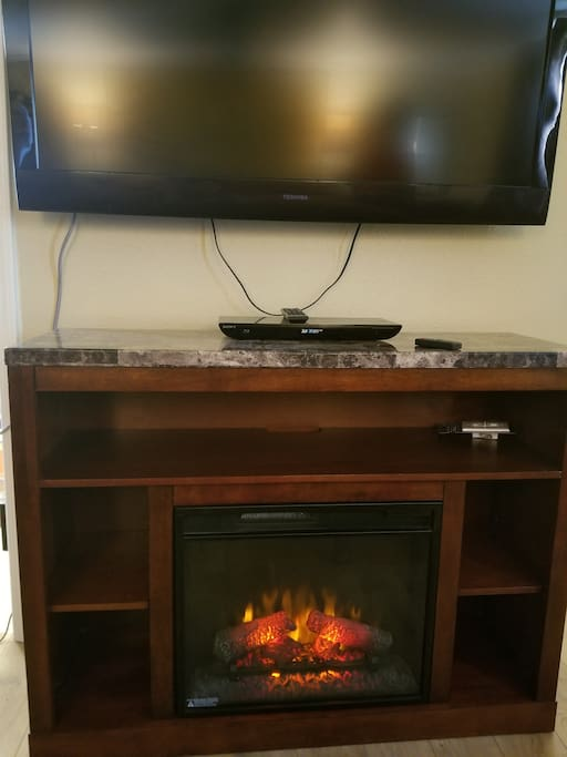 Fireplace with timer