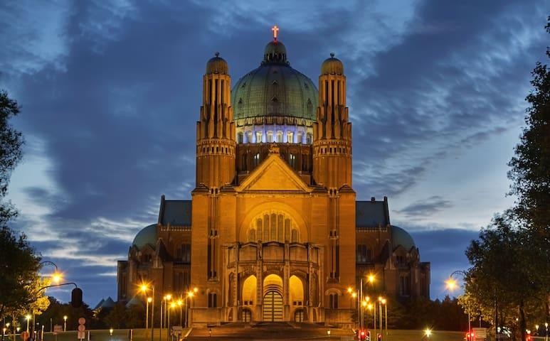 Next to Sacred Heart Basilica