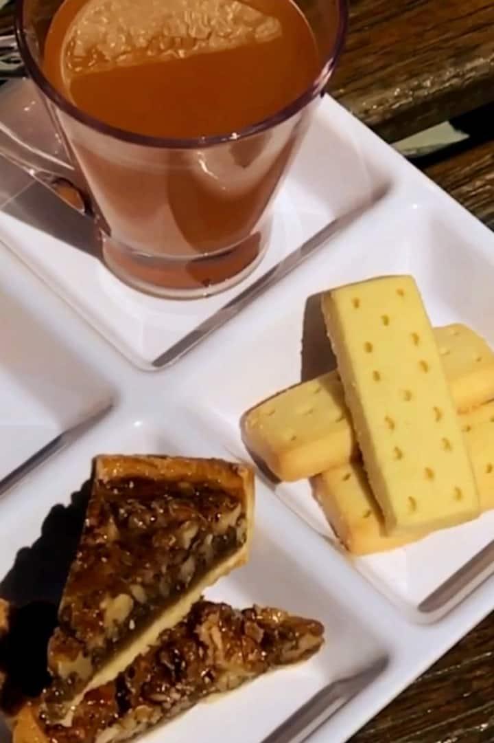 Enjoy a delicious morning tea