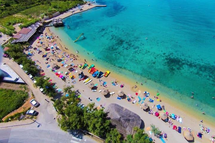 Main beach of Stara Novalja.