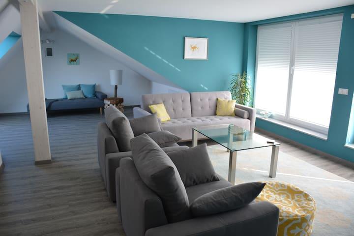 Schöne, moderne und helle Wohnung in Seenähe - Friedrichshafen - Lejlighed