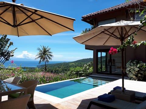Elegant & stylish 2 BDR Ocean View Villa & Pool