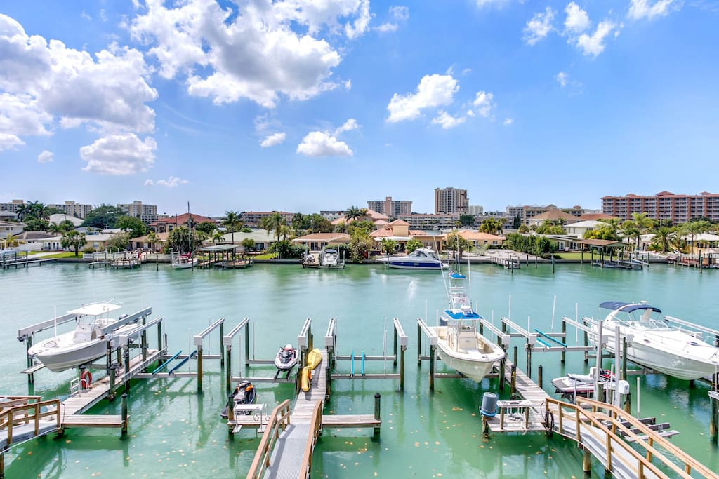 Gaze out onto the serene waters of the intracoastal