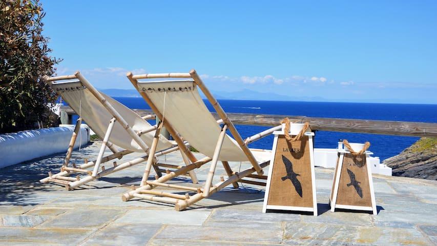 Stylish house with amazing sea view - Melissaki - Casa