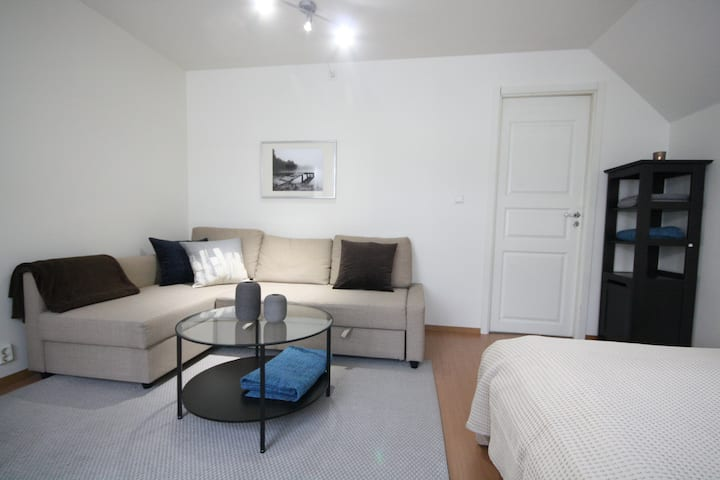 Spacious private room in city center