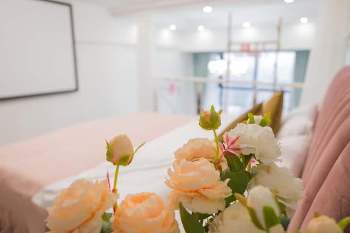 【雅】市中心景德镇茶具城复式双床房/4K坚果投影/北欧轻奢风