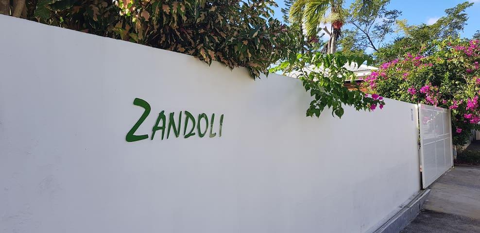 Entrée de la VillaZandoli.