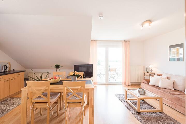 Weingut Briem, (Ihringen-Wasenweiler), Ferienwohnung 3, 50qm, 1 Schlafzimmer, max. 3 Personen