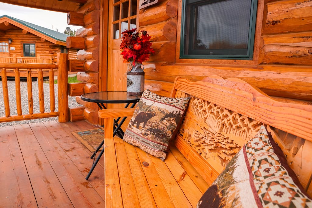Enjoy the beautiful 6 foot covered porch, with a custom bench. Kick back and relax, because you deserve it.