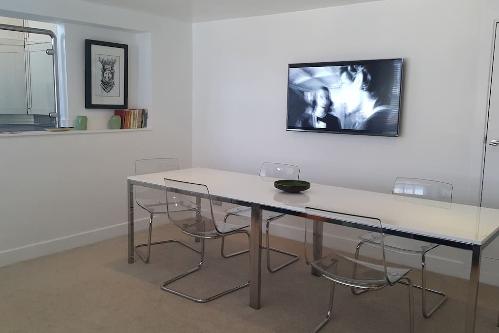 dining area; smart tv complete with free Netflix