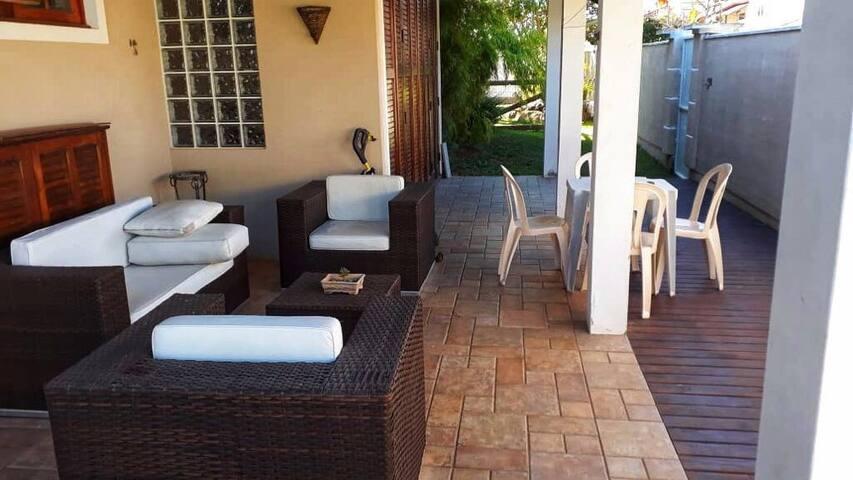 Área para relaxamento e festa