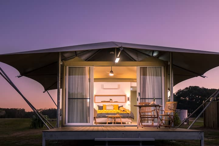 Absolute Beachfront Glamping Tent 2