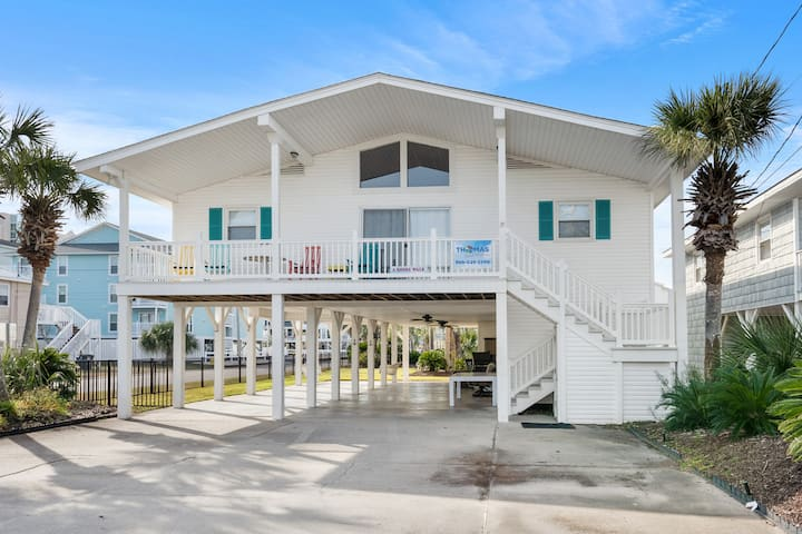 A Shore Walk, waterfront North Myrtle Beach 4BR vacation home