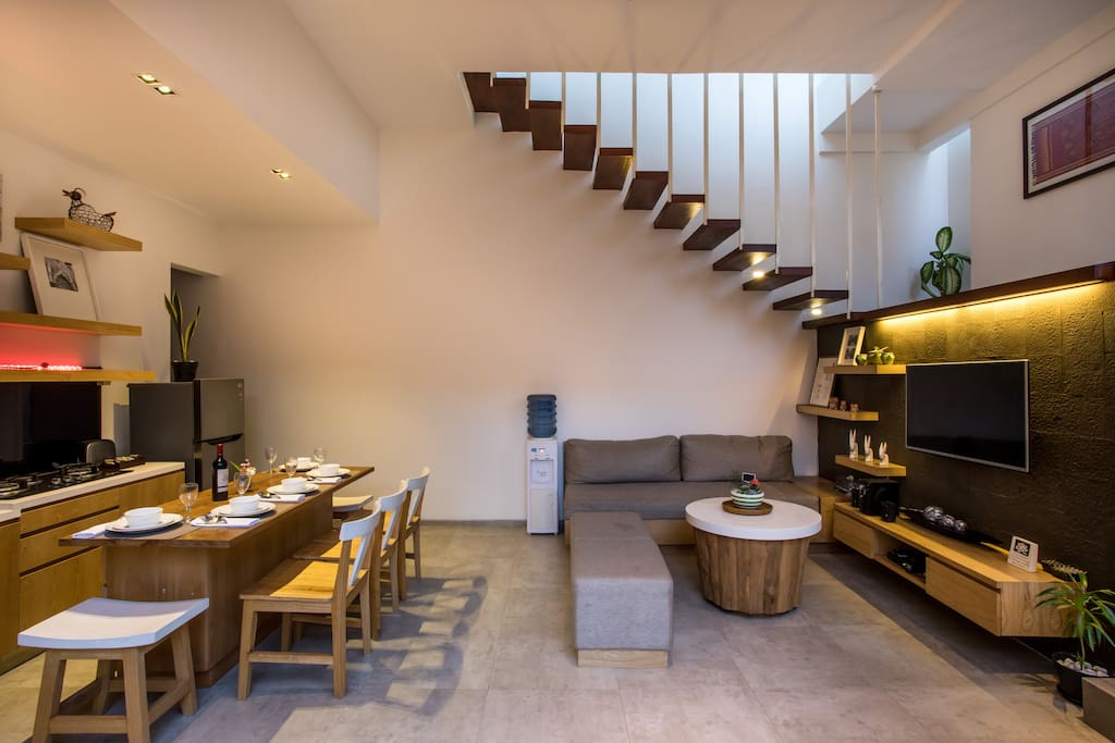 Open Concept of Dining + Living