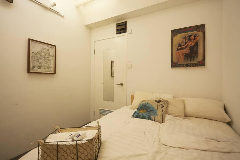 Bedroom with locking door