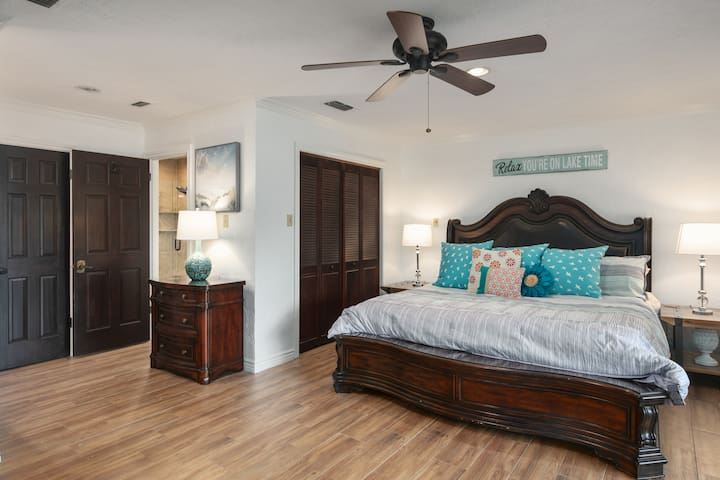 Large, private Master bedroom.