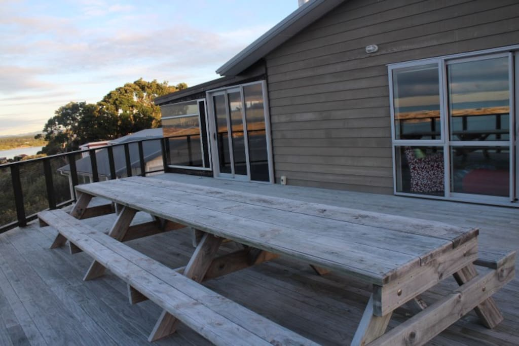 Ample decking for enjoying the view