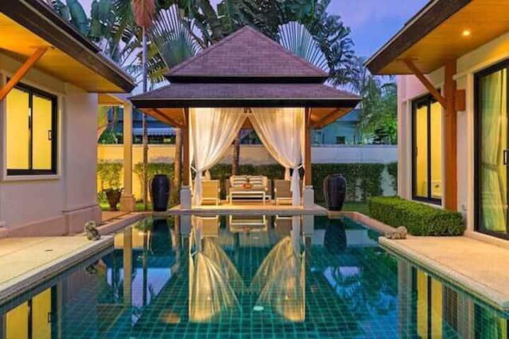 (赞)普吉岛villa精品泰式3卧独立。泳池别墅 中国人服务