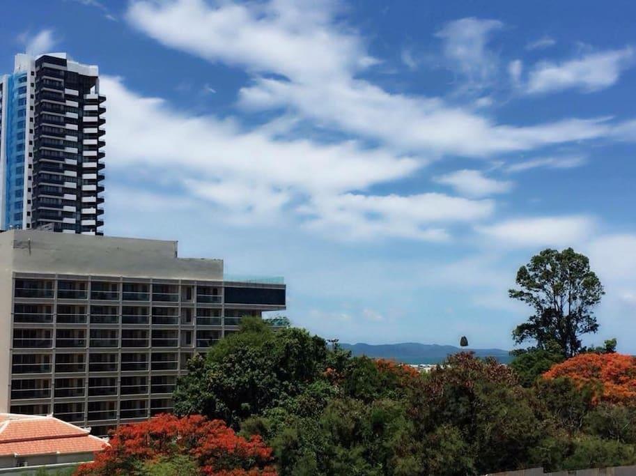 Sea view from balcony facing Monkey Island
