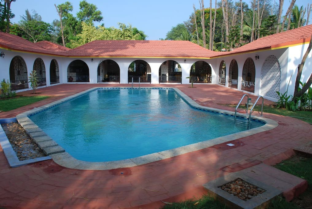 Get together at lakshmi garden ecr villa pool for Garden pool bungalow