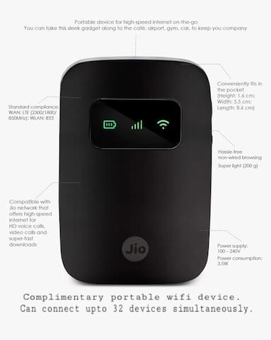 Broadband internet on the go. For upto 32 devices.