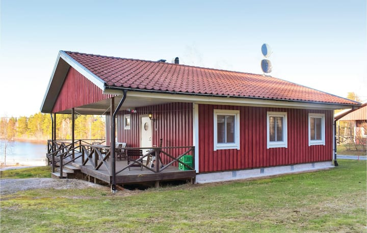 Nice home in Holmsjö with Sauna and 3 Bedrooms