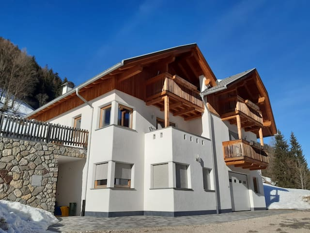 Idyllic Apartment Dolomiten with Balcony, Garden & Wi-Fi; Parking Available, Pets Allowed