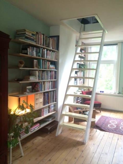 Access to upstairs bedroom.
