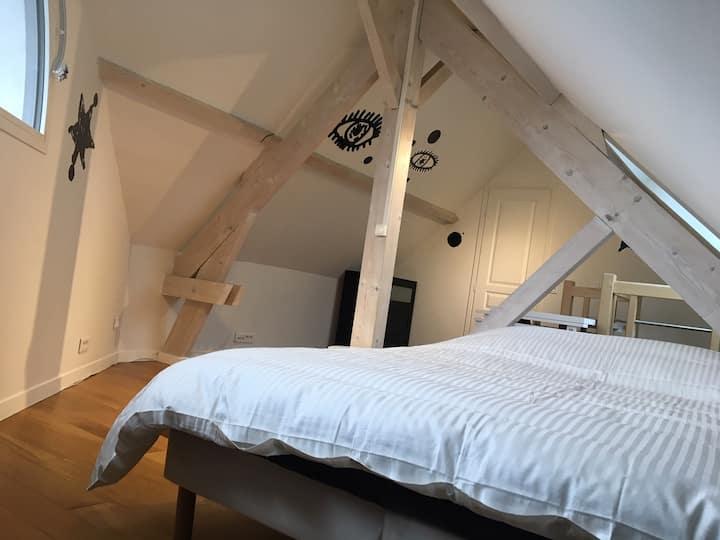 2 chambres communicantes dans Triplex 15 min Paris