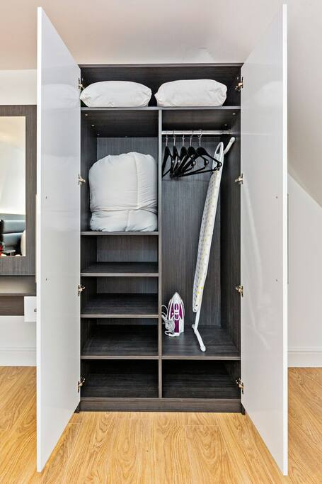 Plenty of storage and hanging space