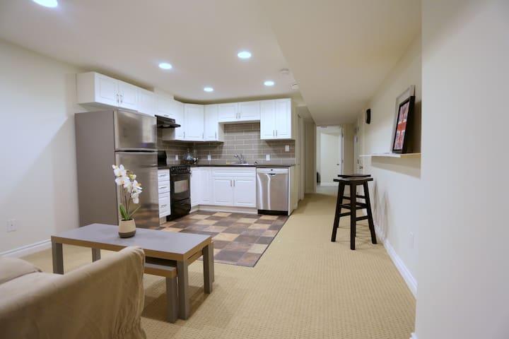 Family friendly basement suite near West Edm Mall