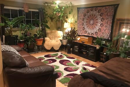 Private Room & Bath in Warm Home close to Downtown