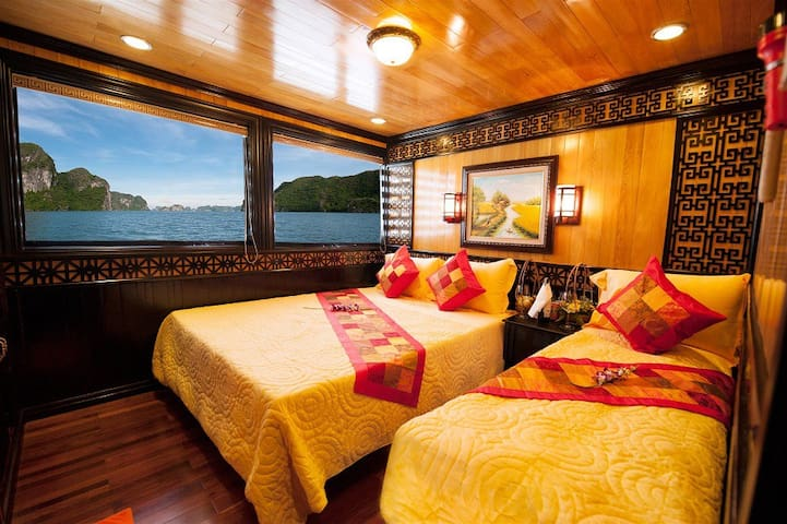 Private cabin on Viet Beauty Cruise 4 star