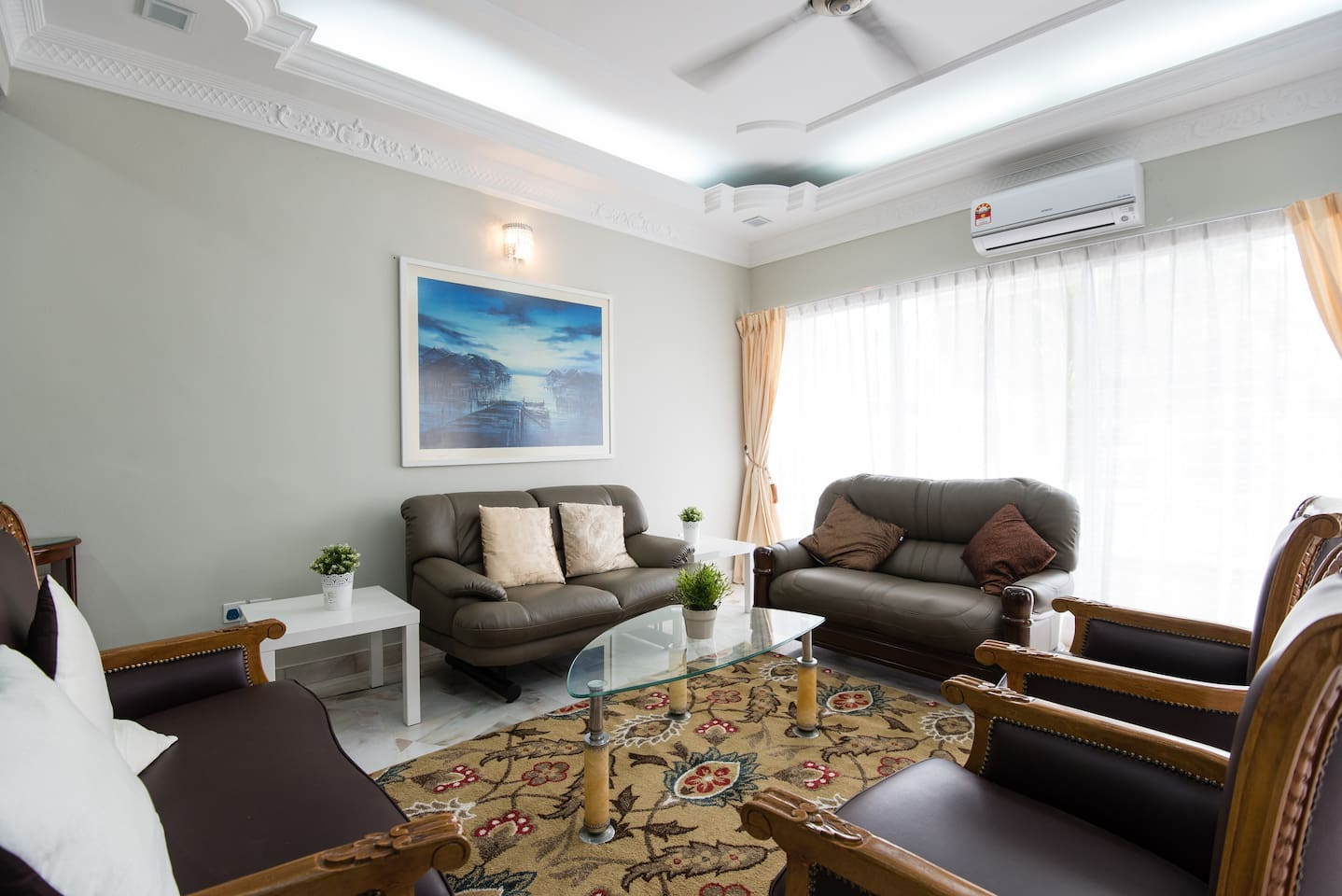 1st floor: Master Bedroom 1 -Spacious, above average 480 sqft with King and 2 Super Single Beds