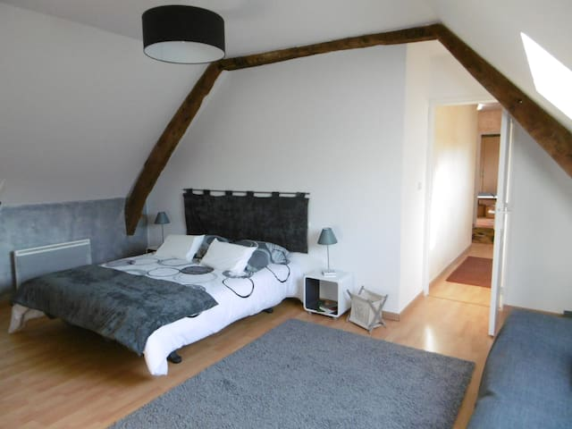 Chambre d'hôtes au calme (possibilité 4 personnes) - Vacognes-Neuilly - Dům pro hosty