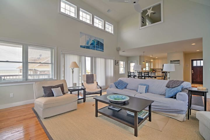 The spacious living room is equipped with everything you need to feel at home.