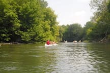 Canoeing on the river Vah.