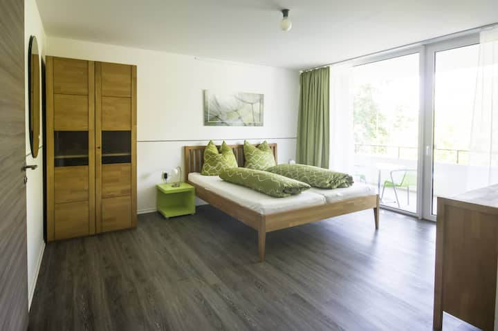 """Modern Apartment 2 in Apartment House """"Aach Apart"""" in Quiet Area near Lake Constance with Wi-Fi & Balcony; Parking Available"""